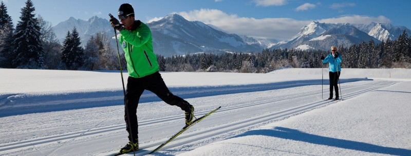 Cross-country skiing in Walchsee