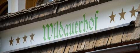 Schriftzug Hotel Wildauerhof