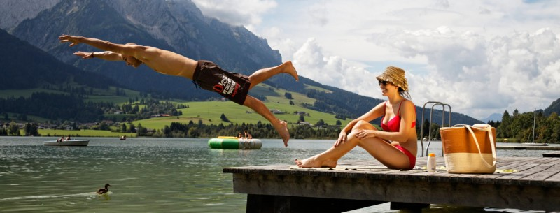 Bathing & swimming in Walchsee